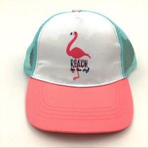 Flamingo Reach For The Sky Kid Baseball Cap